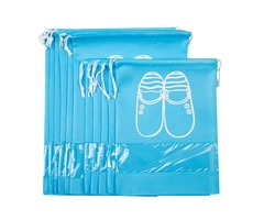 10 Pcs Drawstring Shoes Storage Bags Portable Non-Woven Travel Suitcase