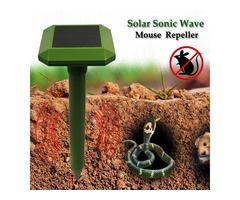 GreatHouse Solar Power Sonic Wave Mouse Snake Repeller Outdoor Garden Animal Expeller