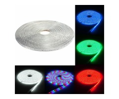 220V 15M 5050 LED SMD Outdoor Waterproof Flexible Tape Rope Strip Light Xmas