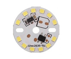 Dimmable 5W 32mm SMD 2835 Aluminum LED PCB Panel Lamp Bead Chip AC220V