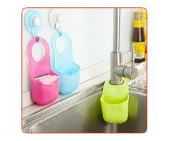 Sink Bathroom Hanging Strainer Organizer Storage Sponge Holder Bag Kitchen Tools