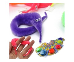 5X Magic Twisty Fuzzy Worm Wiggle Moving Sea Horse Kids Trick Toy