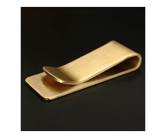 Brass Wallet Metal Clip Male Lady Note Holder EDC Note Retro Copper Thick Section