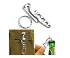 IPRee Outdooors EDC Pocket Key Chain Tool Keyring Clip Hook With Bottle Opener Hex Wrench Multifunct