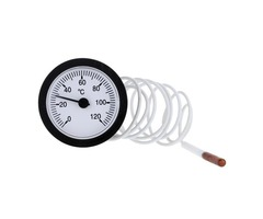 TS-W53 0-120 Centigrade Dial Thermometer Capillary Water Liquid Temperature Gauge with 1.5m Sensor