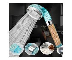 Handheld Negative Ion SPA Pressurize Shower Head Bathroom Healthy Water Saving Spray Nozzle