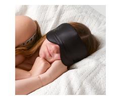 Natural Double Pure Silk Fabrics Layer Easeful Eye Shade Smooth Sleep Mask Blinder