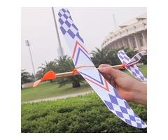 5PCS DIY Foam Plane Elastic Rubber Band Powered Aircraft Kit Model Toy