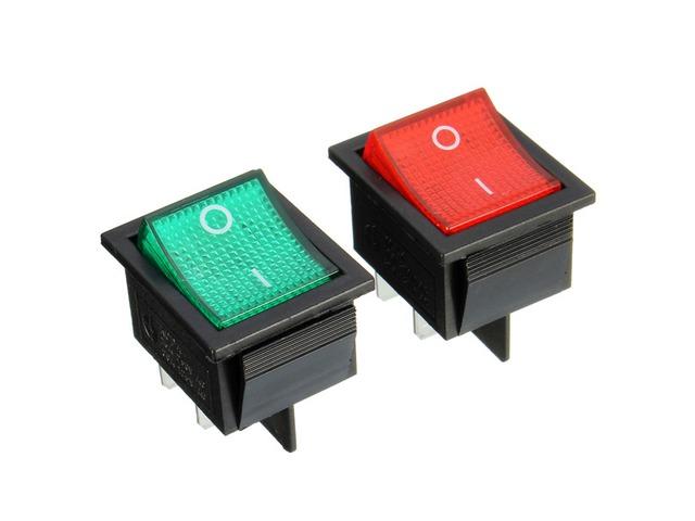 15A 250VAC 20A 125VAC Rectangle Switch 4 Pin On/Off Rocker Switch | FreeAds.info