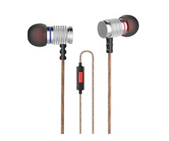 Original KZ EDR2 Metal Heavy Bass In-ear Headphone Clear Sound Music Headphone with Mic