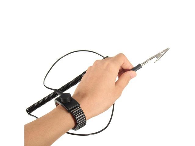 Anti Static ESD Adjustable Wrist Strap Discharge Band Ground Metal Bracelet   FreeAds.info