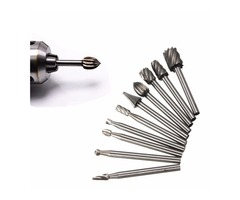 10pcs 1/8 Inch Shank Milling Rotary File Burrs Bit Set Wood Carving Rasps Router Bits Grinding Head | FreeAds.info