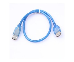 Transparent Blue USB 2.0 Type A Female to A Male Extension Cable