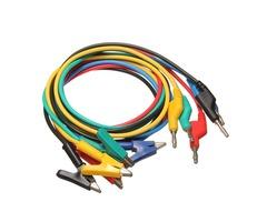 DANIU 5Pcs 1M 4mm Silicone Banana Plug to Crocodile Alligator Clip Test Probe Lead Wire Cable