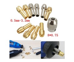 10pcs 0.5-3.2mm 4.3mm Shank Metal Drill Chuck Collet Bits Rotary Tool with Screw | FreeAds.info