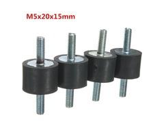 4pcs M5x20x15mm Doubles Ends Rubber Mounts Anti-vibration Rubber Mounts