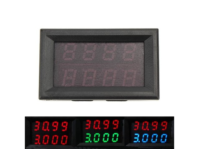 RUIDENG 0-33V 0-3A Four Bit Voltage Current Meter DC Double Digital LED Display Voltmeter Ammeter | FreeAds.info