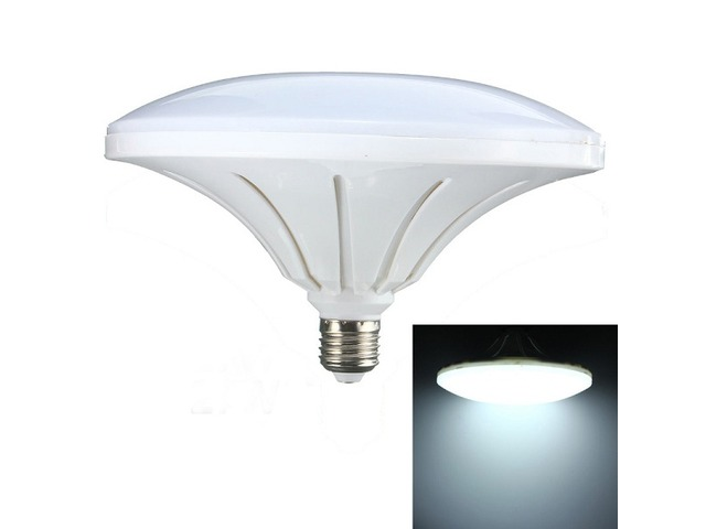 E27 27W 72 SMD 5730 LED Cool White Saucer Globe Light Lamp Bulb AC220V | FreeAds.info