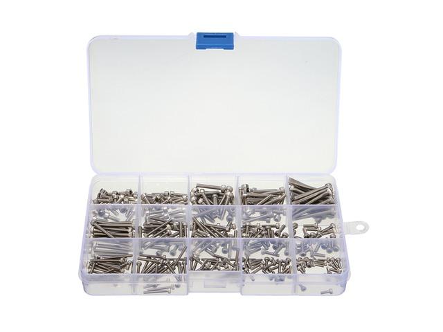 Suleve™ MXSS2 M2/M2.5/M3 Stainless Hex Socket Cap Head Screws Allen bolt Nut Assortment Kit 300pcs | FreeAds.info