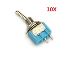 Wendao MTS-101 ON/OFF AC 125V 6A 2 Pins Toggle Rocker Switch 10pcs | FreeAds.info