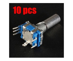 10pcs 15mm Rotary Encoder Switch with Nut and Gasket Micro Switch