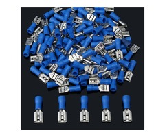 16-14AWG Insulating Female Spade Terminal Electrical Crimp Wire Connectors Blue | FreeAds.info