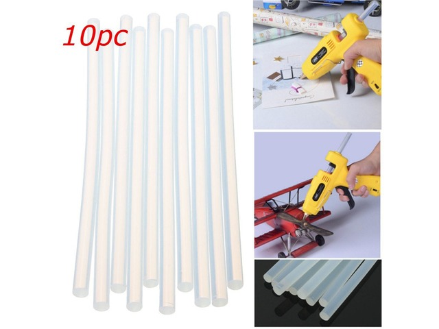 10pcs 180mm x 7mm Hot Clear Melt Glue Adhesive Sticks For Glue Gun | FreeAds.info