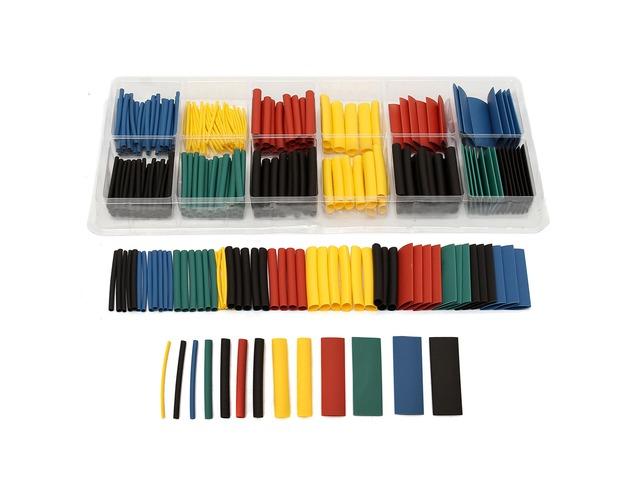 280pcs Assortment Ratio 2:1 Heat Shrink Tubing Tube Sleeving Wrap Kit with Box   FreeAds.info