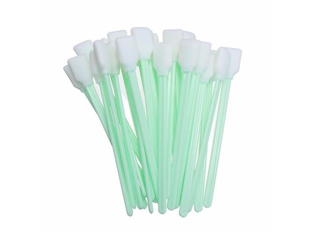 Effetool 50pcs 127mm Cleaning Swabs Sponge Swabs Machine Sponge Stick Clean Cotton Swab | FreeAds.info