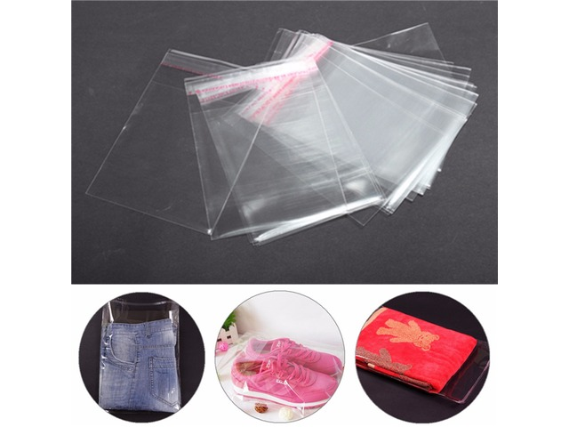 100Pcs A4 Clear Cellophane Display Bags Self Adhesive Seal Ring Plastic OPP | FreeAds.info
