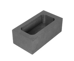 65x30x20mm Graphite Crucible Casting Melting Ingot Mold for Refining Melting 14OZ Silver/26OZ Gold