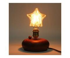 Kingso 220V E27 40W Edison Incandescent Filament Light Retro Vintage Lamp Star/Heart Shape Bulb