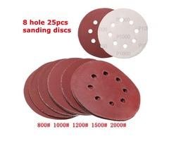 25pcs 5 Inch 8 Holes Abrasive Sanding Discs Sanding Paper 800/1000/1200/1500/2000 Grit Sand Paper | FreeAds.info