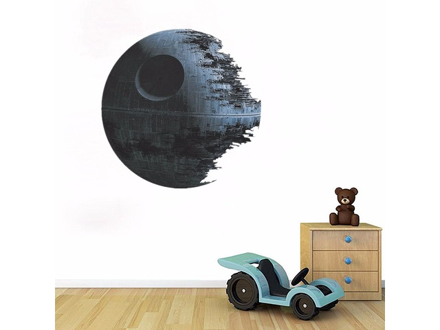 45cm Removable Death Star Wars Wall Stickers Art Vinyl Decal Kids Bedroom Home Wall Decoration | FreeAds.info