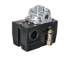 Heavy Duty Pressure Switch Control Valve Air Compressor 90-120PSI 4 Port 26 AMP