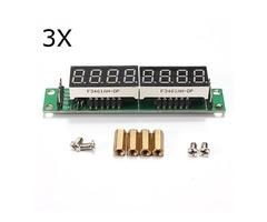 3Pcs MAX7219 Red 8 Bit Digital Tube LED Display Module For Arduino MCU