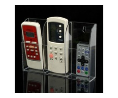 Acrylic TV Air Conditioner Remote Control Holder Case Wall Mount Storage Box