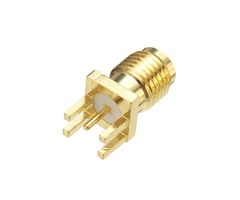 10Pcs SMA Female Solder Edge PCB Mount Straight RF Connector Plug