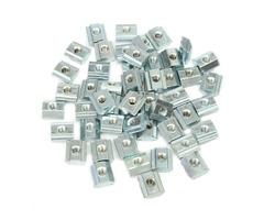 50pcs M4 T Sliding Nut Block for 2020 Aluminum Profile Zinc Coated Plate Aluminum Accessories
