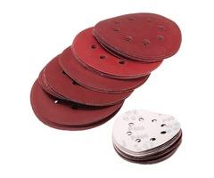 25pcs 5 Inch 125mm 8 Hole Sanding Discs 400-1200 Grit Sandpaper