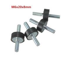 4pcs M6x20x8mm Doubles Ends Rubber Mounts Anti-vibration Rubber Mounts