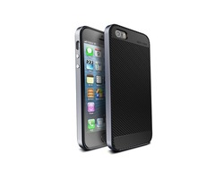 Ucase Carbon Fiber TPU PC Case For iPhone 5 5s SE