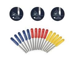 15pcs 30 45 60 Degree Cutter Cutting Plotter Blades for Mimaki Plotter