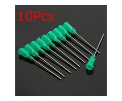 10Pcs 18Gauge Dispensing Syringe Needle Tip Blunt Luer Lock 1.5Inch
