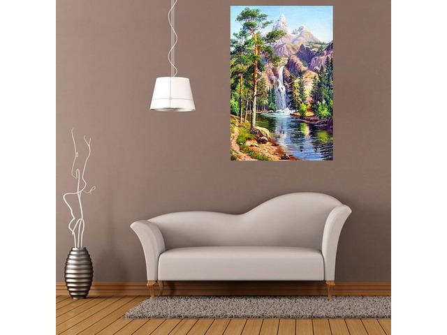 16x12 Inches 5D Diamond Painting Landscape Scenery Craft DIY Cross Stitch Home Decor | FreeAds.info