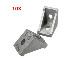 Suleve™ AJ28 Aluminium Angle Corner Joint 28x28mm Right Angle Bracket Furniture Fittings 10pcs