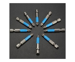 10pcs 50mm PH2 Screwdriver Bit Set Anti Slip Electric Magnetic Screwdriver