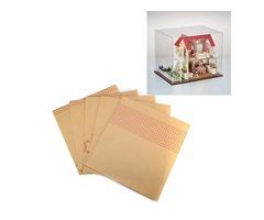 CuteRoom DIY Transparent Display Box Dust-proof Cover Dollhouse Princess Room