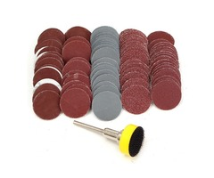 Effetool BG0355 100pcs 25mm 100-3000 Grit Sand Paper with Hook and Loop Backer Pad Sandpaper