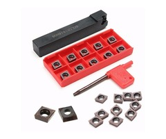 SCLCR1616H09 Lathe Turning Tool Holder with 10pcs CCMT09T304 VP15TF CCMT32.51 Carbide Inserts